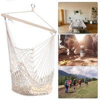Cotton Hammock Net Outdoor Hammock Swing Chair Cotton Rope Net Swing Cradles Meash Hollow Adults Outdoor Indoor Hanging Chair