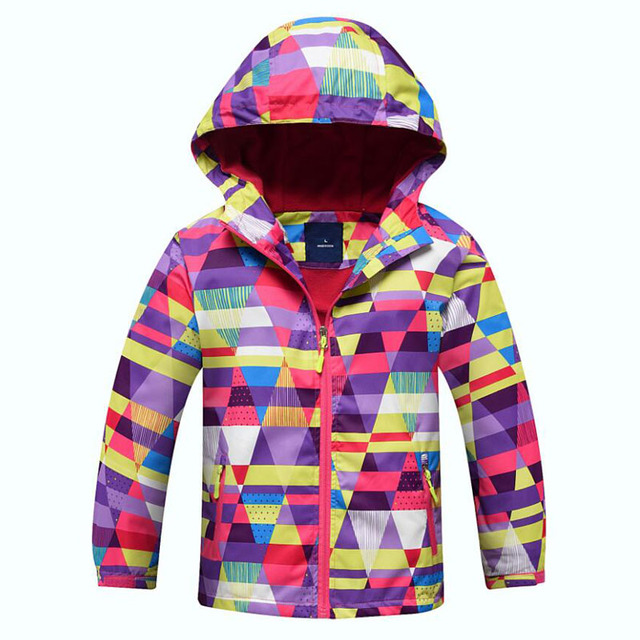 Girls Windbreaker Jacket For Child Clothing 2019 Brand Flower Polar Fleece Girls Outerwear Coat Spring Autumn 3-12T Kids Jackets