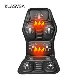 Heat Vibrate Cushion Back Neck Massage Chair Heated Back Massage Seat acdbe9e30d714