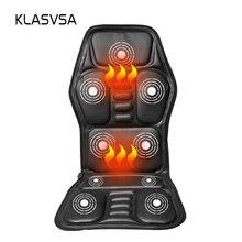 Caliente masaje de espalda asiento Topper coche a casa Oficina asiento masajeador calor vibración cojín cuello espalda masaje silla de masaje relajación