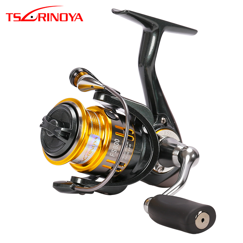 TSURINOYA Fishing Reel FS 1000 2000 3000 5 2 1 9 1BB Trout Freshwater Saltwater Spinning