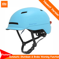 Xiaomi Smart4u SH50 Waterproof Smart Flash Bike Helmet USB Charge LED Backlight MTB Bike Scooter Protector Helmet Brake Warning