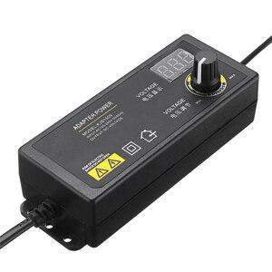 Image 1 - LEORY Универсальный светодиодный адаптер питания, 3 24 В, 1,5 А, с регулируемым напряжением, вилка стандарта ЕС и США