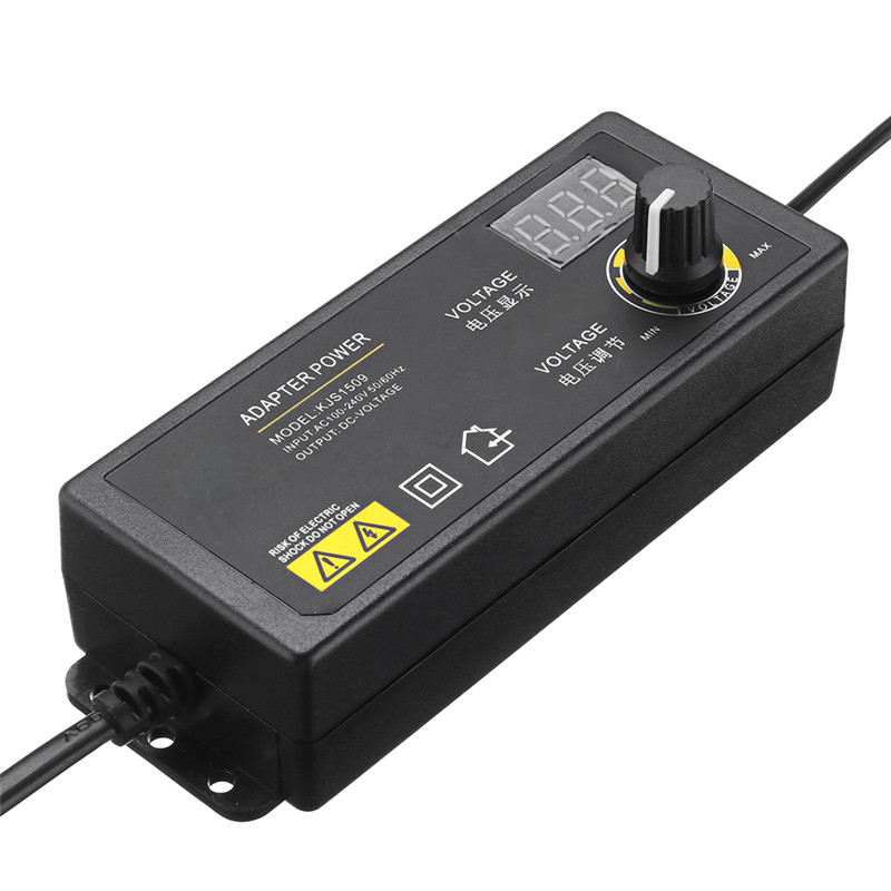 LEORY KJS 1509 3 24V 1 5A Power Adapter Adjustable Voltage Adapter EU US Plug LED