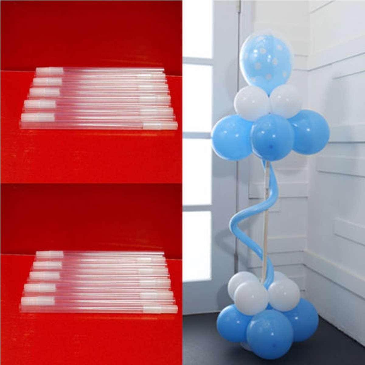 4pcs Plastic Sticks Pole For Balloon Arch Column Base Stand Wedding Decor