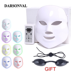 Facial Mask LED PDT Photon Therapy Lamp AntiAging Machine Electric Led Mask Beauty Microcurrent Face Neck Mask Skin Rejuvenation
