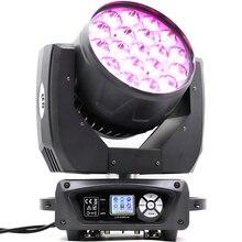 Светодиодный промывочный зум 19×15 Вт RGBW Подвижная головка свет zoom движущаяся головка Новый движущийся фонарь для мытья головы