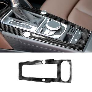 Image 2 - For Audi A3 2014 2015 2016 2017 Car Carbon Fiber Center Control Gear Shift Panel Cover
