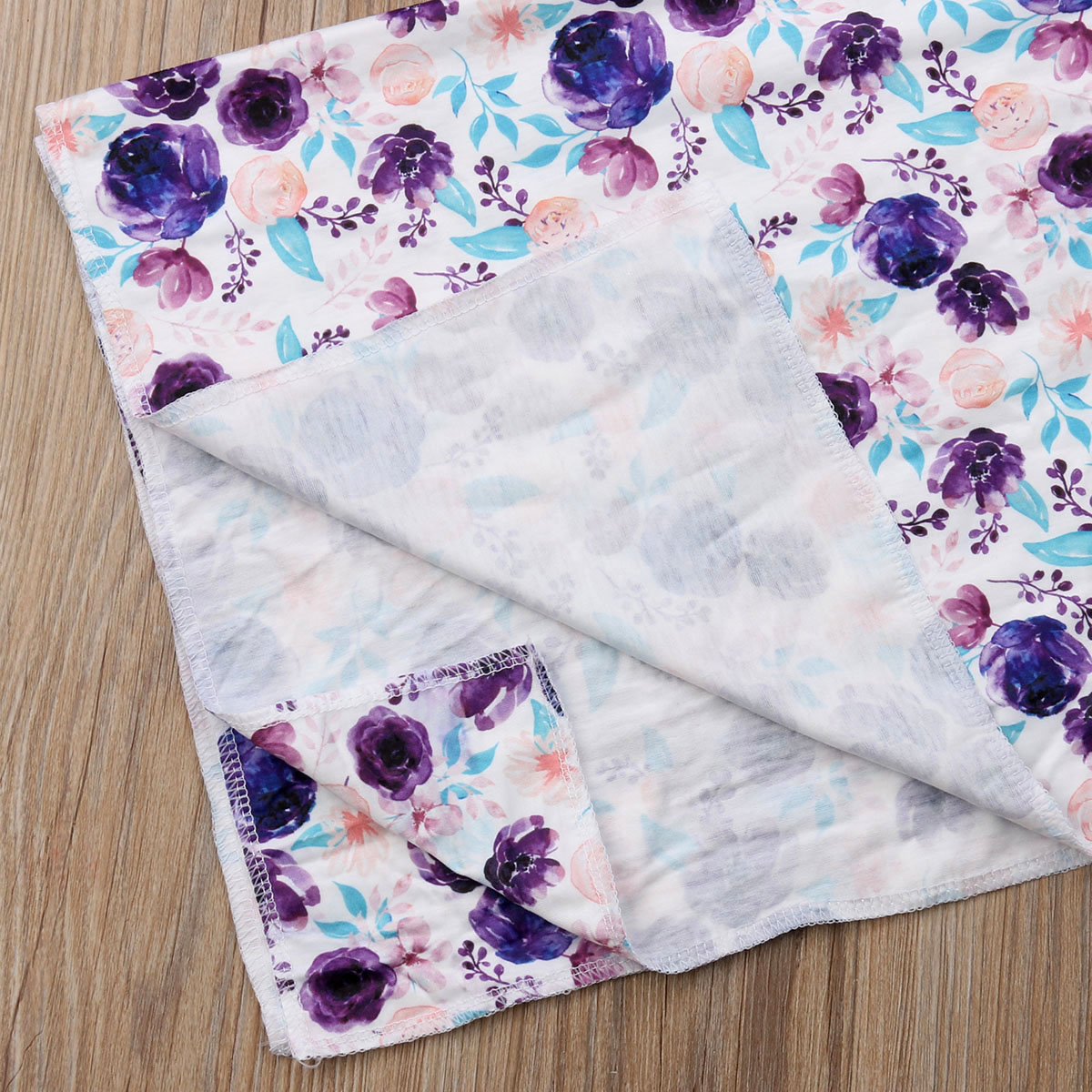 3Pcs Newborn Baby Floral Cotton Swaddle Muslin Blanket  Wrap Swaddling Blanket