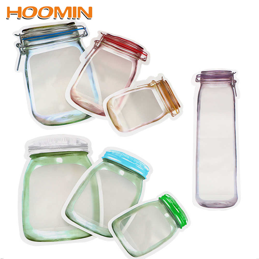 Storage Bag Smell Proof Clip Stand Up Bag Food Grade Plastic Storage Zipper Zip Lock Bag Food Snack Pouches