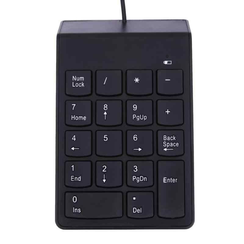 New USB Mini 18-keys Num Pad Numeric Number Keypad Keyboard for Laptop Note