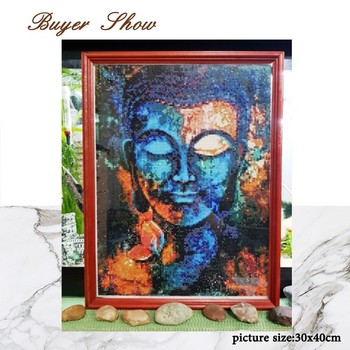 Huacan Religion Diamond Painting Buddha Home Decor Full Square Diamond Embroidery Needlework Diamond