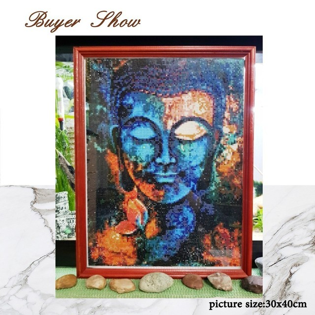 Huacan Religion Diamond Painting Buddha Home Decor Full Square Diamond Embroidery Needlework Diamond Mosaic