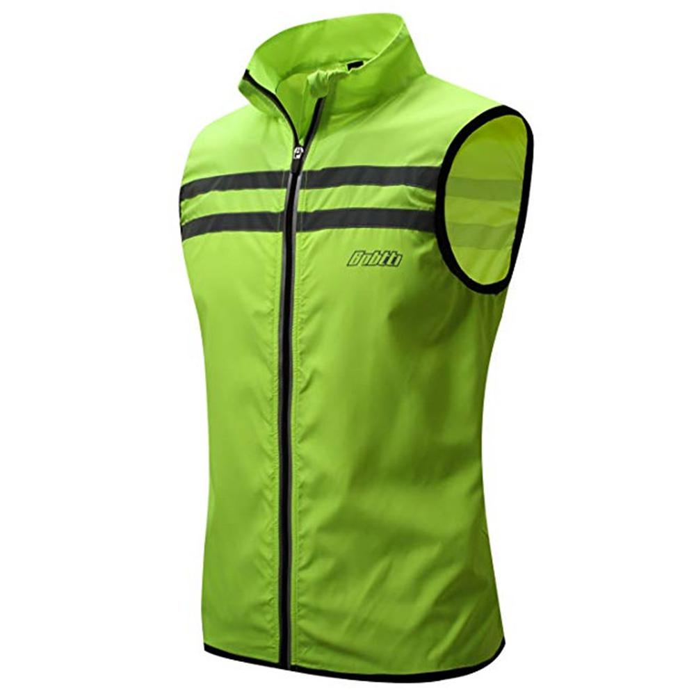 Mounchain Adult Cycling Reflective Vest Outdoor Safety Running Cycling Windproof Reflective Vest  S  XXL upf15|Cycling Vest| |  - title=