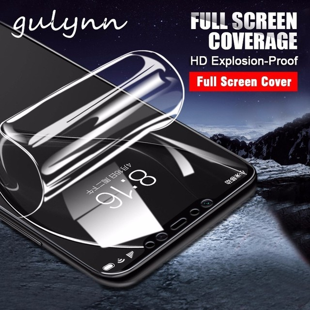 US $0 89 |New 10D Full Cover Hydrogel Film For Xiaomi Mi A2 8 Lite HD  Screen Protector Soft Film For Poco Phone F1 Redmi 6A 6 Note 6 Pro-in Phone