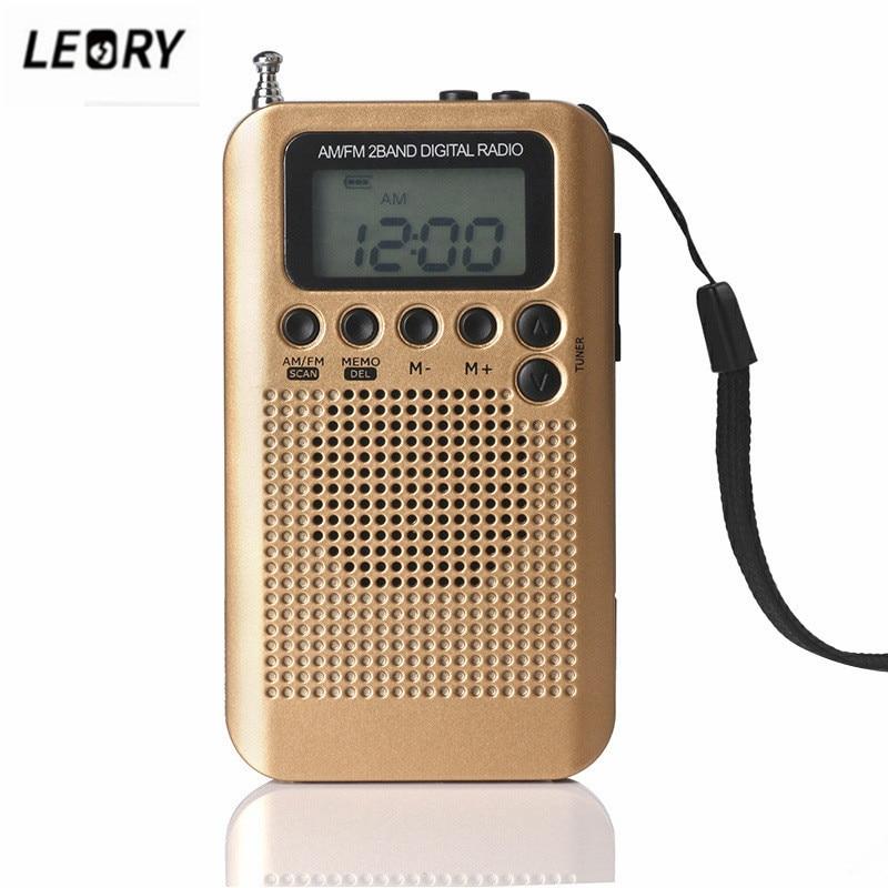 Radio Unterhaltungselektronik Leory Mini Dsp Radio Lcd Digital Fm/am Radio Lautsprecher Mit Wecker Zeit Display Funktion 3,5mm Kopfhörer Jack