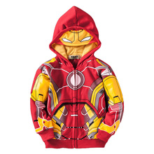 цены Boys clothes children spring and autumn new coat fashion cartoon long-sleeved hooded baby jacket