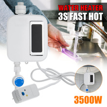 3500W 220V Mini Electric Tankless Instant Hot Water