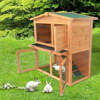 40 inch Triangle Roof Rabbit House Hutch Waterproof Wooden A Frame Small House for Chicken Ducks Pet Cage Coop Pet Supplies