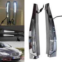 Auto Car White LED Daytime Running Lights Fog Lights DRL Lamp For Jaguar XF 2008 2009 2010