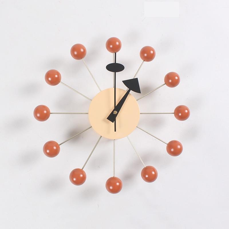 New Fashion Clock Popular Designer Beautiful Modern Luxury Home Decorative Diy Wooden Balls Wall Clocks Candy Clock Simple Clock-in Wall Clocks from Home & Garden    3