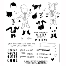 Boy and girl Transparent Clear Silicone Stamp/Seal for DIY scrapbooking/photo album Decorative clear stamp