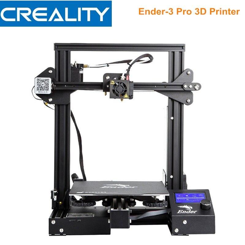 Créalité 3D Ender-3 Pro 3D Imprimante DIY Kit Cadre En Acier De Haute Précision LCD Affichage Stable Alimentation