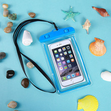 Universal Waterproof Mobile Phone Case For Clear PVC Sealed Underwater Swimming Cover Neck Straps with Keyring