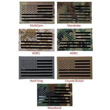 IDOGEAR Tactical Embroidered Patch USA Flag Name Large US Flag Military Badges Combat Gear Multicam AOR1 Right side(China)