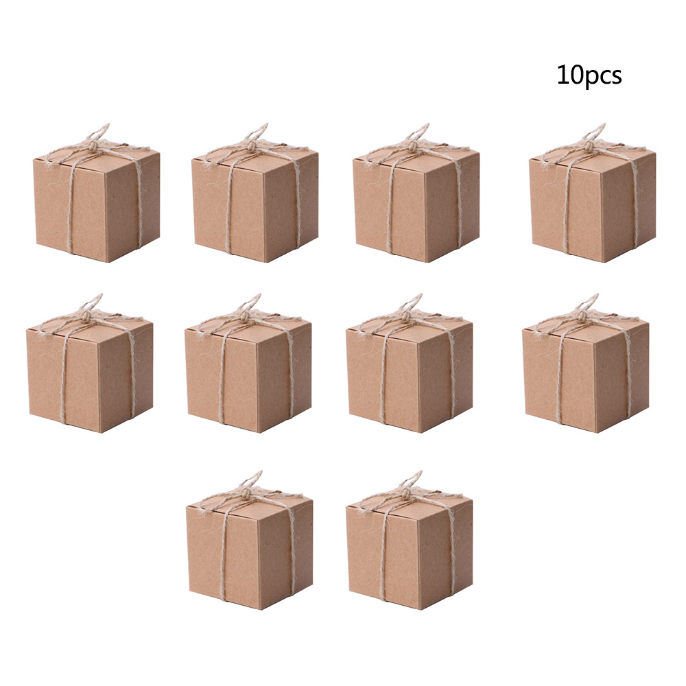 Wedding Candy Box Paper Candy Box Square Shape Wedding Favor Gift Party Supply Packaging Bag Wedding Party Gift