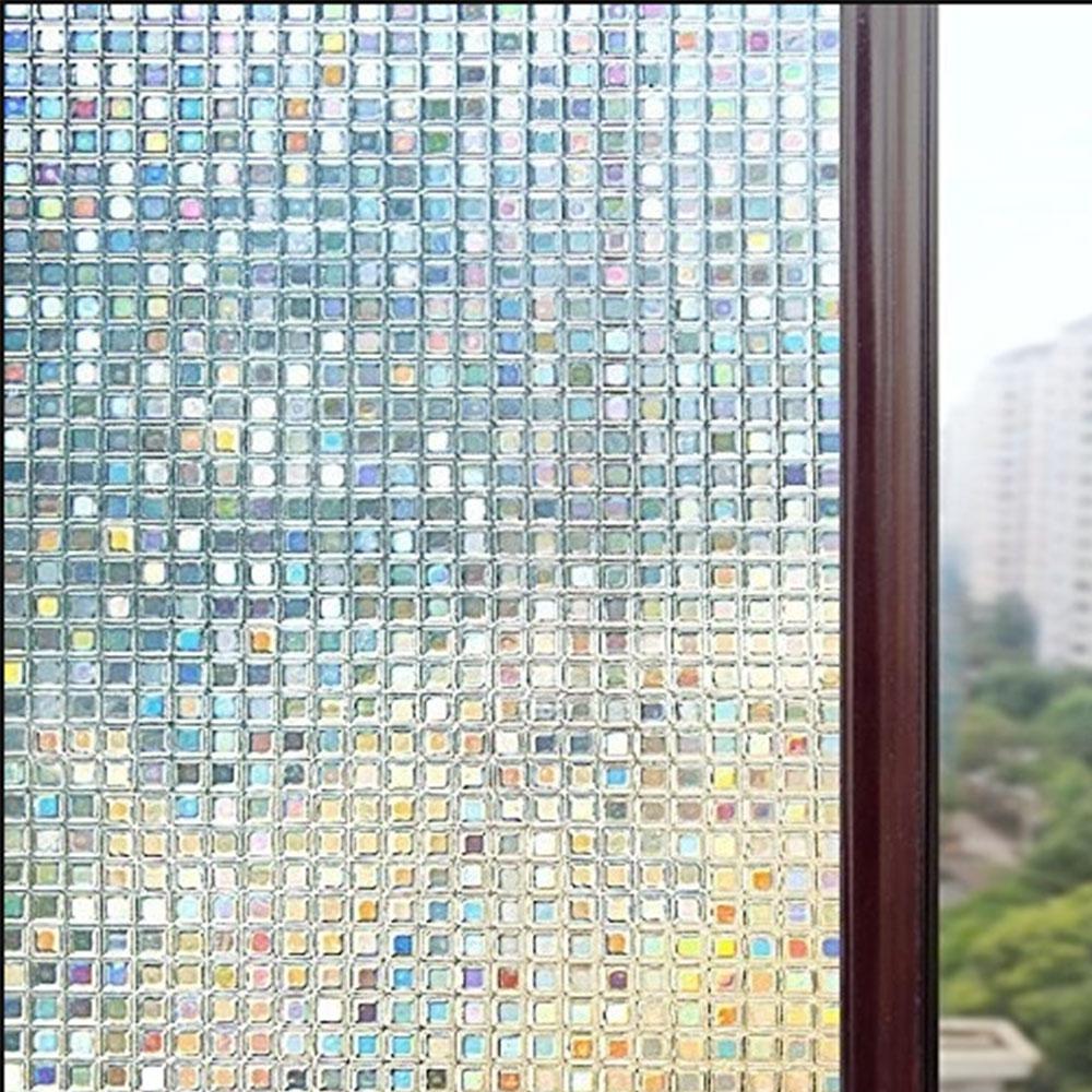 Статическая пленка ПВХ 3D оконная ванная комната экономичная анти УФ гостиная офисная стеклянная наклейка Красивая кухонная стеклянная пленка матовая дверь