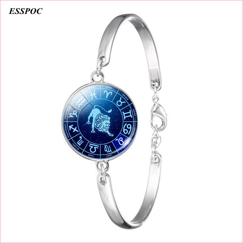 Women Fashion Silver Chain Bracelet 12 Zodiac Sign Pisces Taurus Gemini Leo Virgo Libra Capricorn Zodiac Jewelry Bangle Bracelet To Enjoy High Reputation In The International Market Jewelry & Accessories