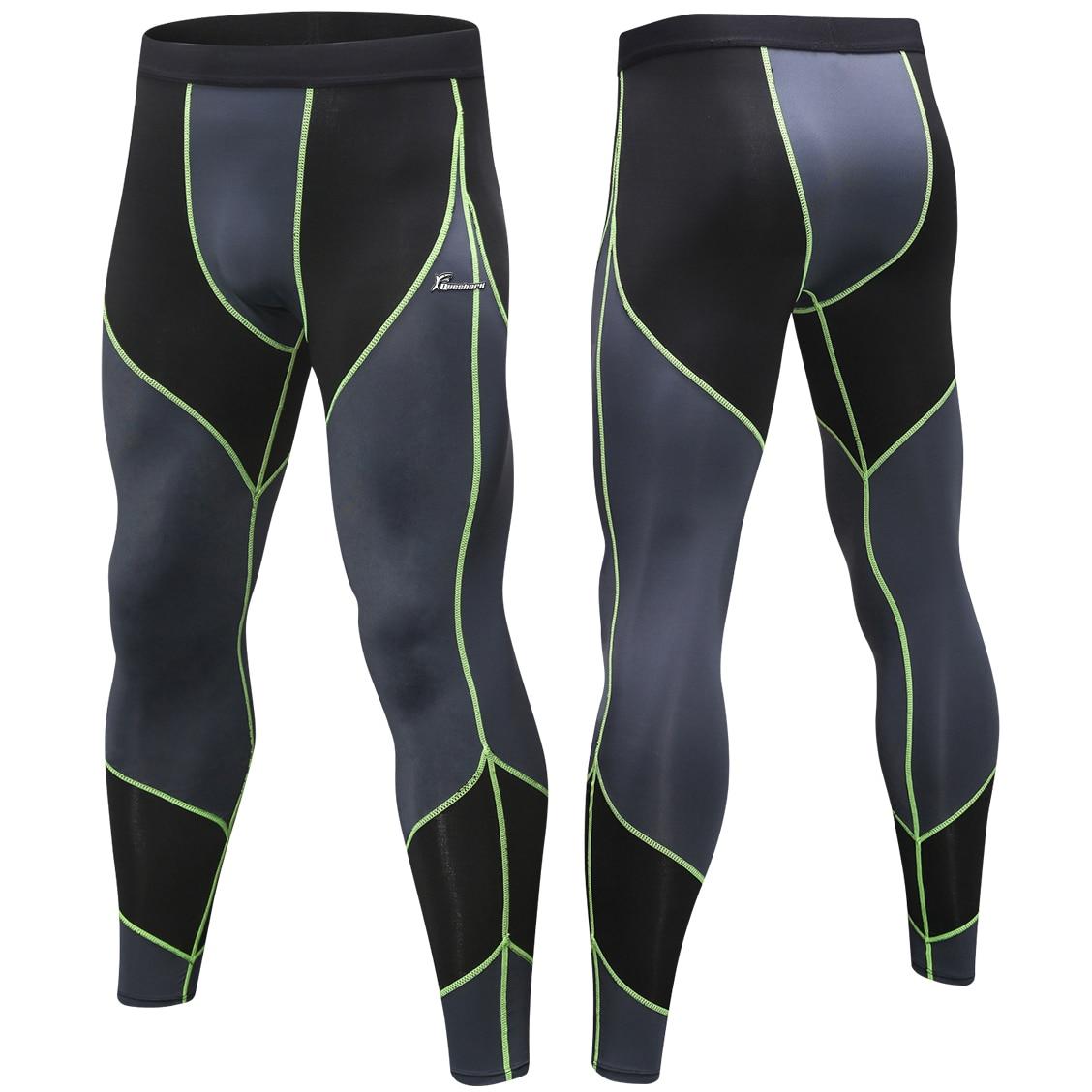 Mens Compression Workout Tights Under Base Layer Training Spandex Gym Sportswear