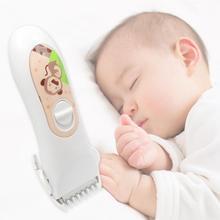 Детская электрическая машинка для стрижки волос Профессиональная USB перезаряжаемая Водонепроницаемая машинка для стрижки волос для ухода за ребенком детская стрижка для домашнего использования