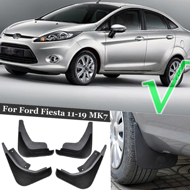 4 Pcs Front Rear Splash Mud Guards Flaps Mudguard Set For Ford Fiesta 11-19 MK7