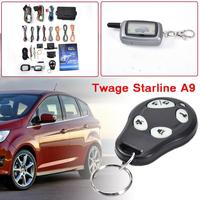 Dropshipping Two way Car Burglar Alarm Keychain RC Anti theft System Russian Version Car Alarm System For AI CAR FUN Car Alarm