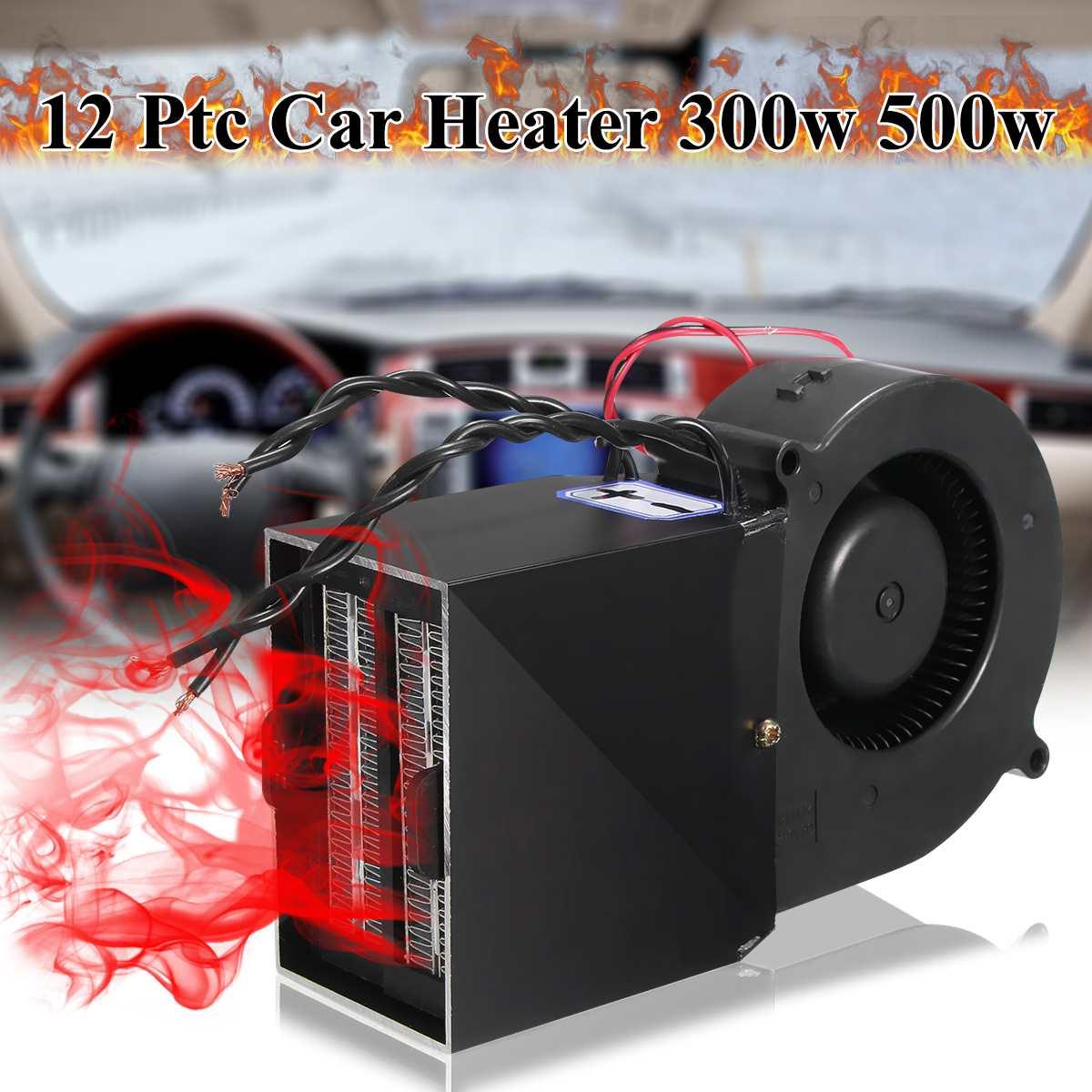 DC 12V Adjustable 350W 500W Ceramic Car Heating Heater Hot Fan Defroster Demister Car Electrical Heating Fans Instant Heating