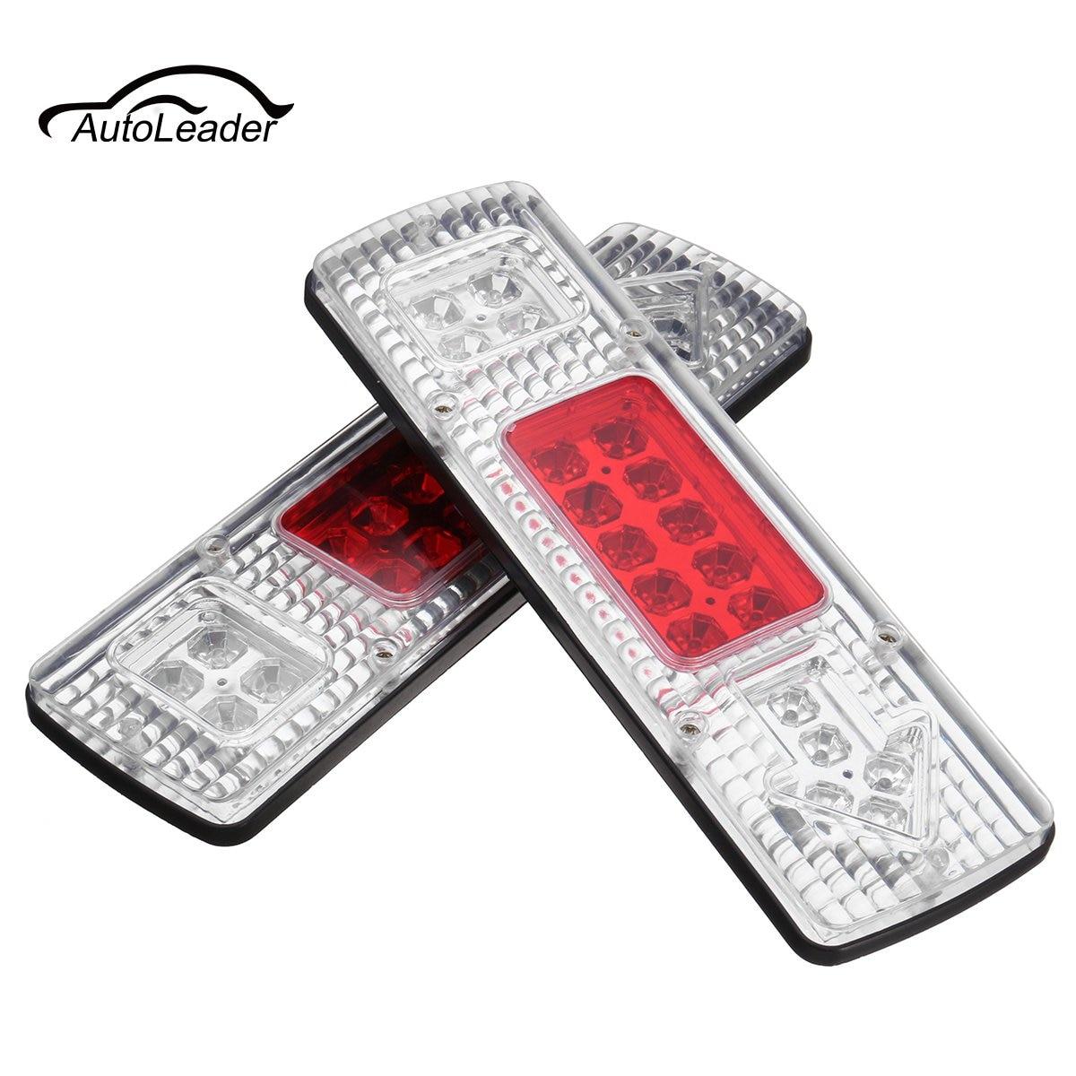 2Pcs 12V LED Warning Light Universal Arrow Truck Trailer Rear Tail Brake Stop Reverse Turn Indicator Light Lamp