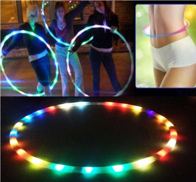 Sport Hoops 7Color Creative LED Colorful glow Sport Hoop Child adult Creative performance Fitness shaping body building