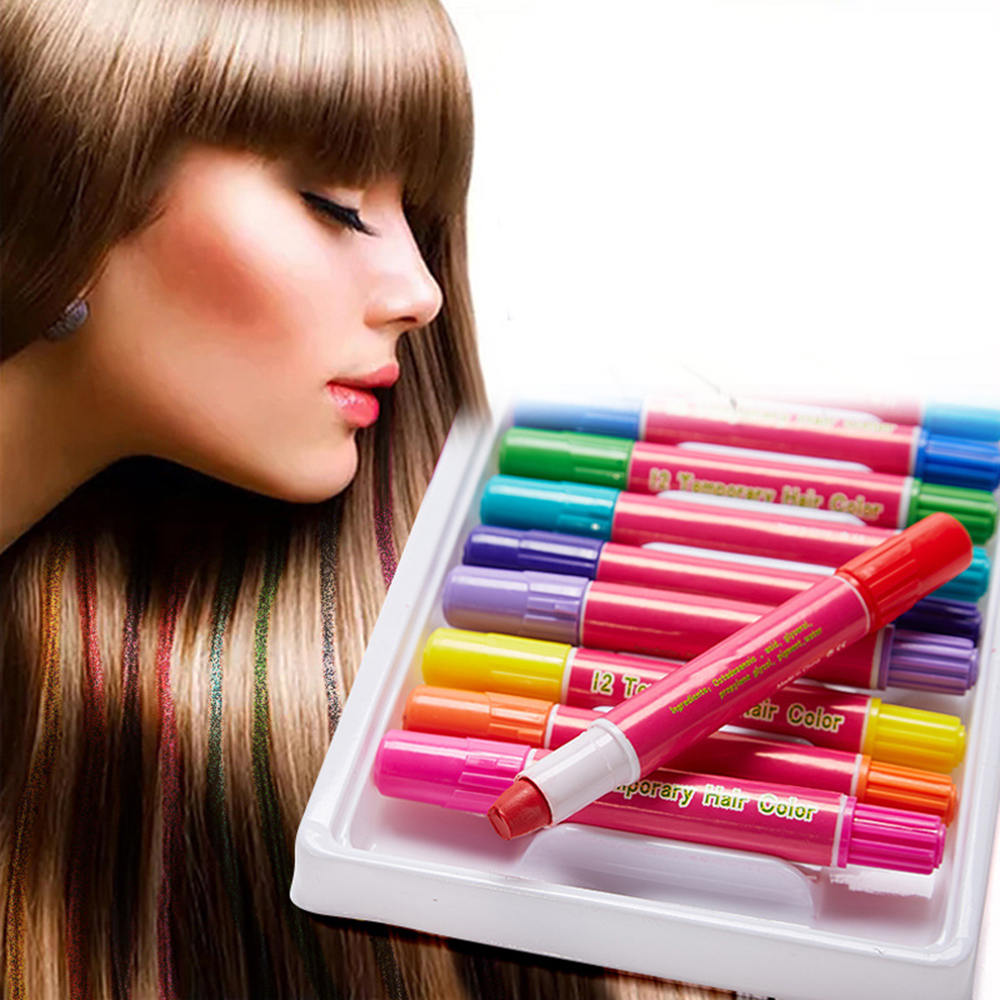 Hair Coloring Sets Disposable Hair Coloring Waxes Chalk Pens Dye Set Temporary Hairdressing Accessories