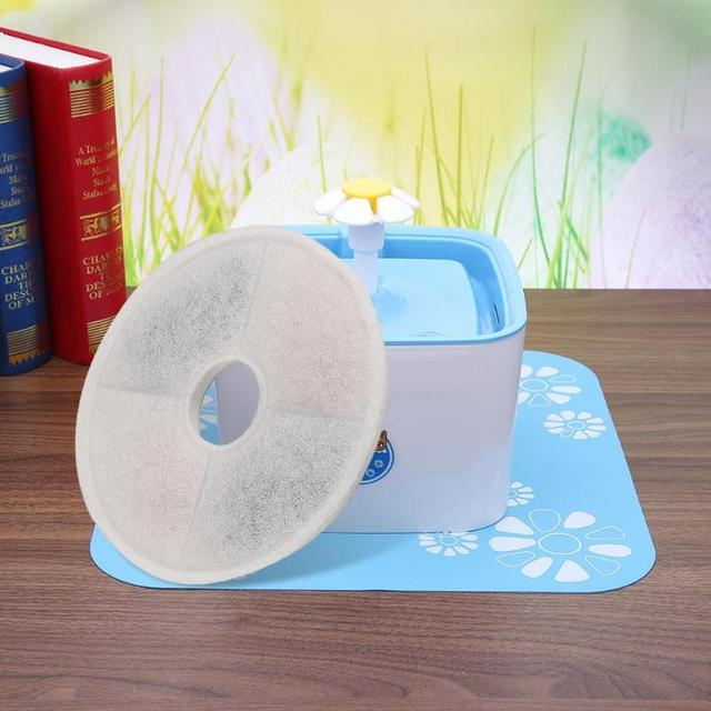 Automatic Pet Drinking Fountain Cat Dog Water Drink Dispenser Bowl Dish Filters Round Shape Drinking Machine Filter Core