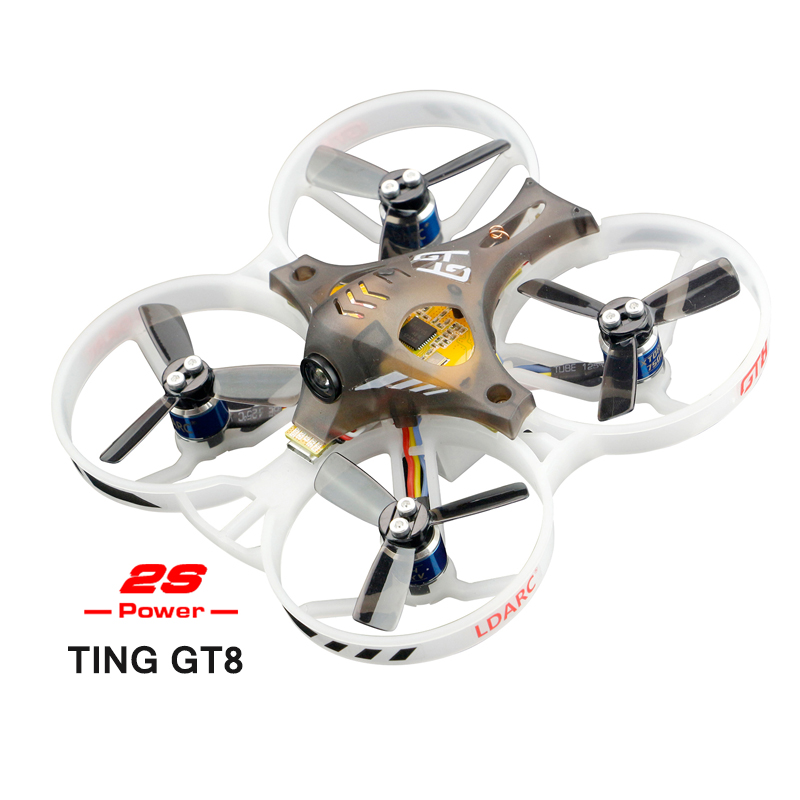 2018 New Arrival LDARC 2S Brushless Drone TING GT8 PNP Indoor FPV Micro Racing Drone Mini RC Quadcopter DSM2/RX2A PRO/AC900 RX x73 mini indoor fpv racing drone