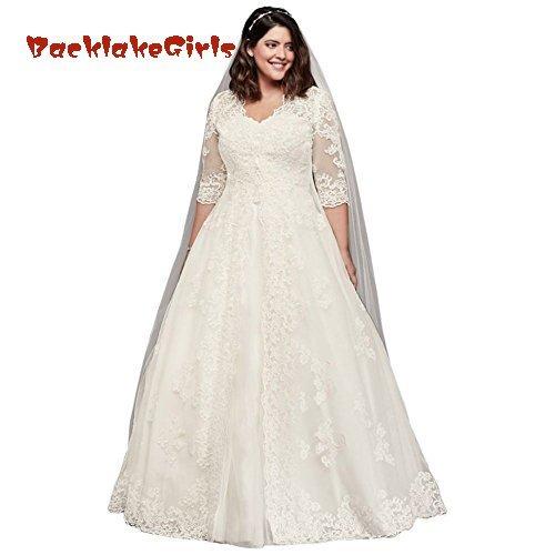 57438f4850 BacklakeGirls Wedding Bridal Extra Length Organza Plus Size Wedding Dress  with Long Topper Style