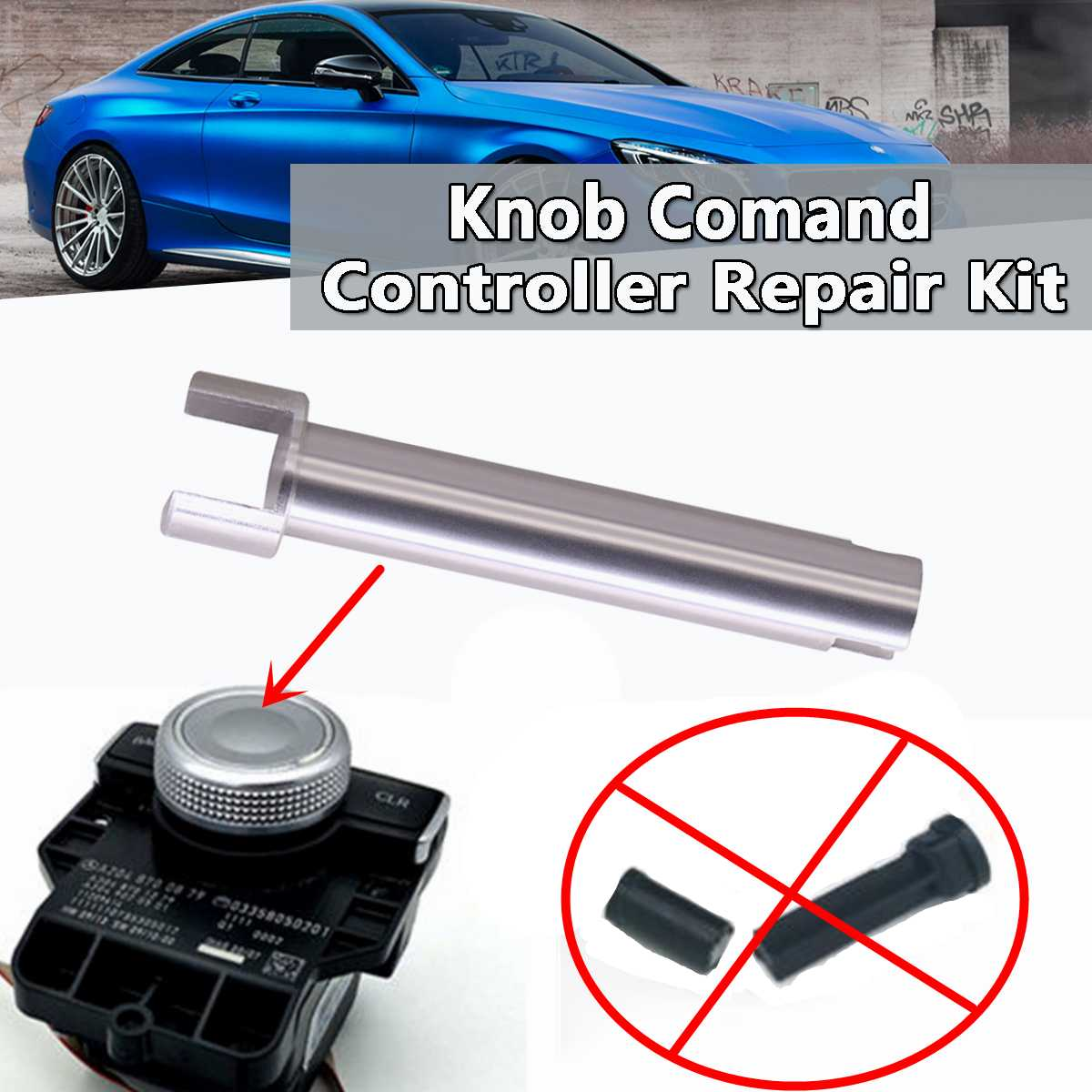 1pc Knob Console Command Controller Rotary Switch Button Scroll Knob Shaft Repair Kit For Mercedes For Benz W204 X204 W212 W218