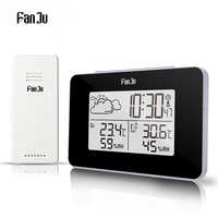FanJu FJ3364 Digital Wecker Wetter Station Drahtlose Sensor Hygrometer Thermometer Multi-funktion LED Desktop Tisch Uhr