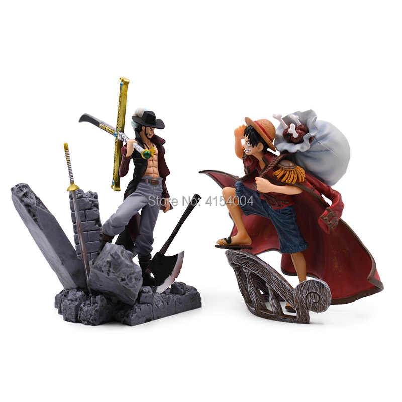 9 estilos Anime One Piece Luffy Chopper Mihawk Dracule Going Merry Shanks PVC Action Figure Collectible Modelo Toy Presente de Natal