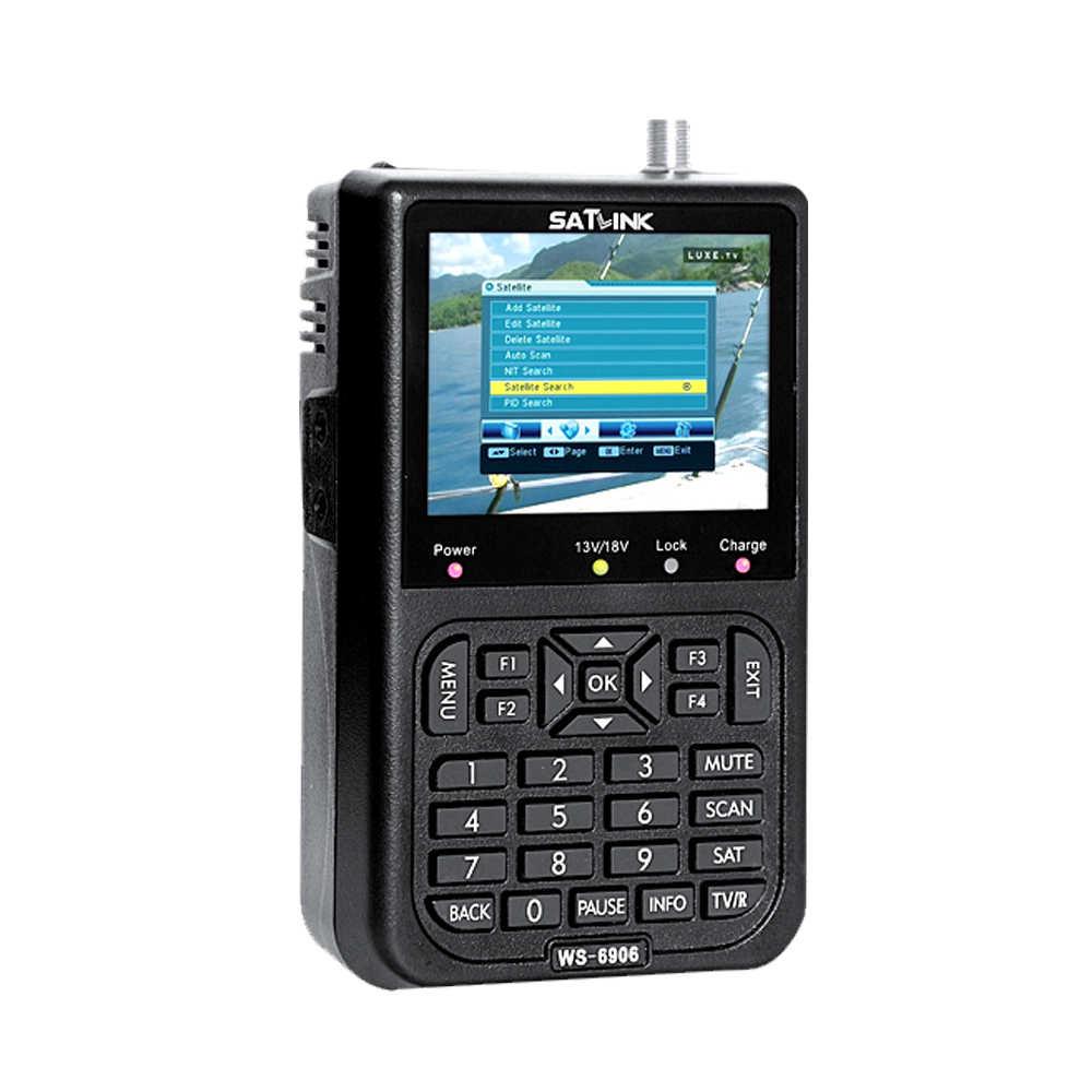 SATLINK WS6906 3 5in LCD Display Data Digital Satellite Signal Finder Meter