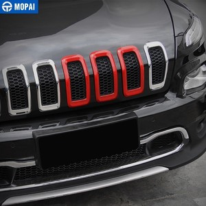 Image 3 - Mopai車のステッカージープチェロキー2014 + absの車のフロントグリル装飾カバーステッカージープチェロキー2018車アクセサリー
