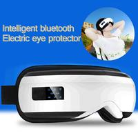 USB Electric Eyes Massager Vibration Infrared Heating Therapy Air Pressure Music Eye SPA Glasses Head Stress Relief For Student