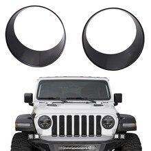 1 пара крышки на фары отделка передних фар крышки Bezels передние световые крышки для Jeep wrangler JL